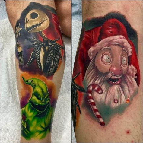 the night before christmas tattoo designs nightmare before leg best ideas