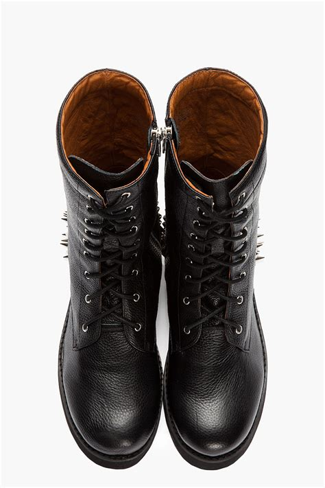 spiked mens boots lyst jeffrey cbell black leather spiked