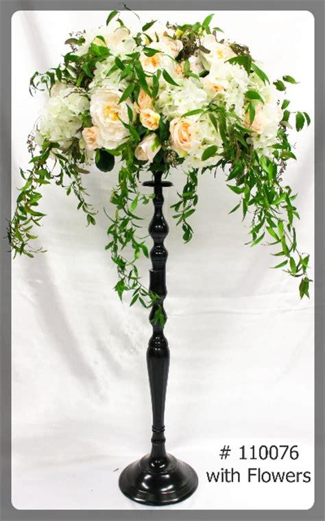 black candelabras  ultimate wedding project special event rentals mississauga ontario