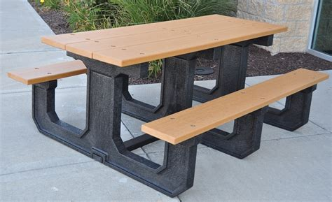 plastic picnic table rectangular recycled plastic picnic table park warehouse