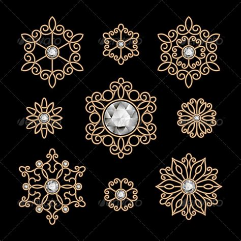 vector pattern jewelery vector gold jewelry background 187 dondrup com