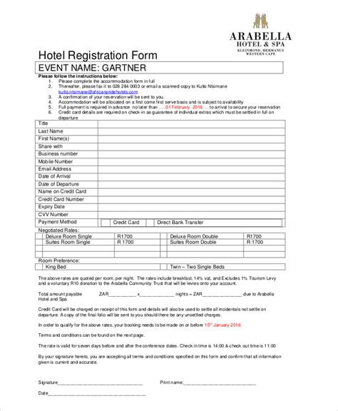 sle workshop registration form template guest registration form template 28 images 9 sle hotel