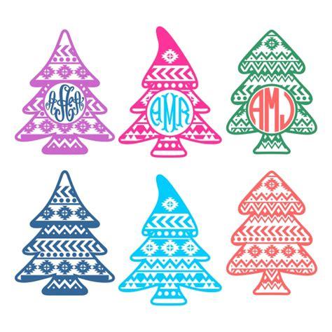 apex pattern works christmas tree monogram svg cuttable frames