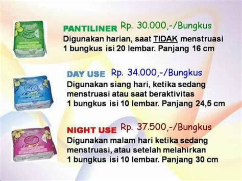 Harga Pembalut Avail by Agen Avail Distributor Resmi Pt Avail Elok Indonesia