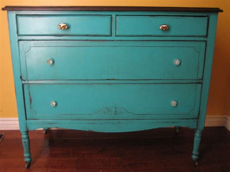 Painting Dresser by European Paint Finishes Teal Dresser