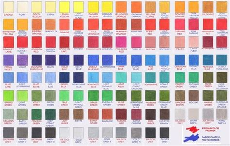prismacolor color chart prismacolor polychromos colour comparison chart colour