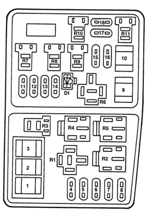 Ford Contour (1996 - 2000) - fuse box diagram - Auto Genius
