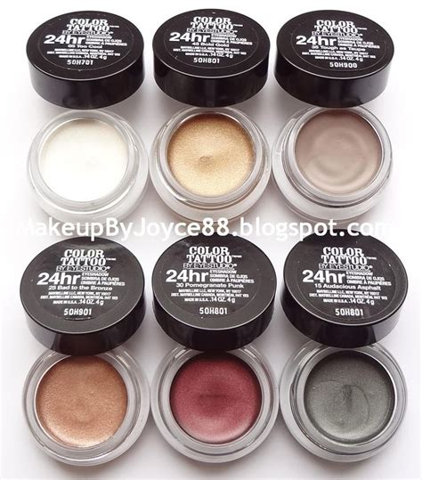 maybelline tattoo cream eyeshadow swatches maybelline color tattoo i bought one pot of these on