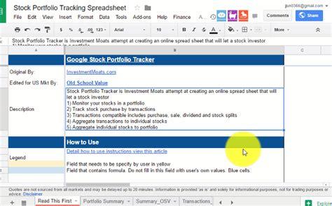 best portfolio tracker the best free stock portfolio tracking spreadsheet