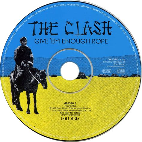 Clash Give Em Enough Rope Cd car 225 tula cd de the clash give em enough rope portada