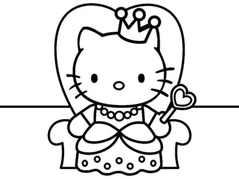 29 Best Hello Kitty Images On Pinterest Hello Kitty Coloring Pages Hello Princess