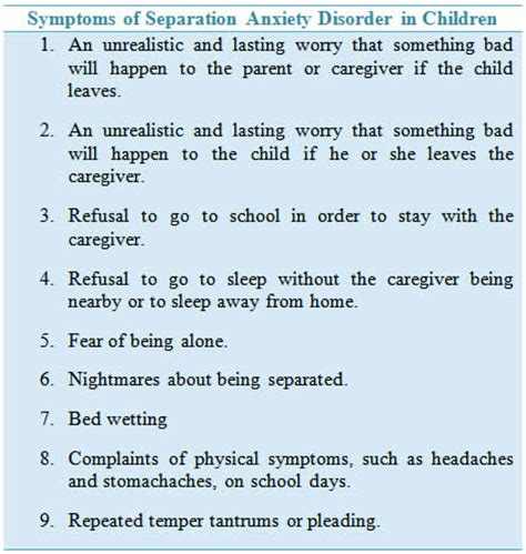 how to crate a with severe separation anxiety anxiety disorders in children causes symptoms and treatment
