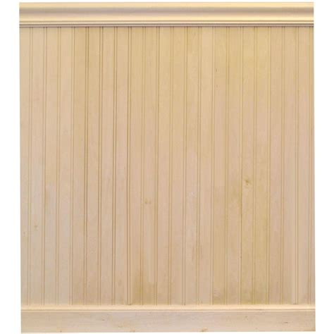 Wainscoting Tongue And Groove house of fara 8 ft basswood tongue and groove