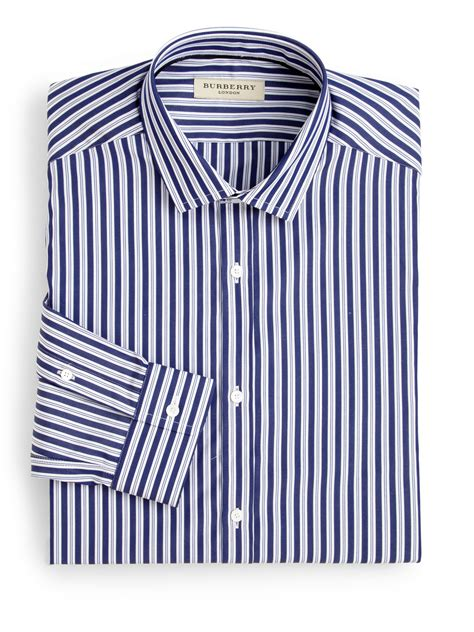 Striped Shirt Dress lyst burberry halesforth striped dress shirt in blue for