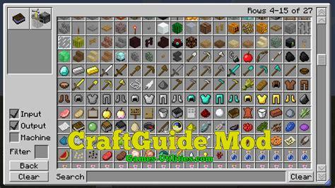 mod game list craftguide mod for 1 13 1 1 13 1 12 2 1 11 2 1 10 2
