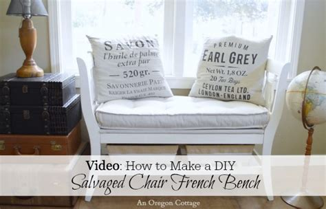 diy chair bench diy salvaged chair french bench video old house journal
