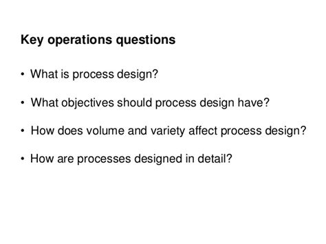 What Is Operations Mba by Pgbm03 Mba Operation Management Session 04 Process Design