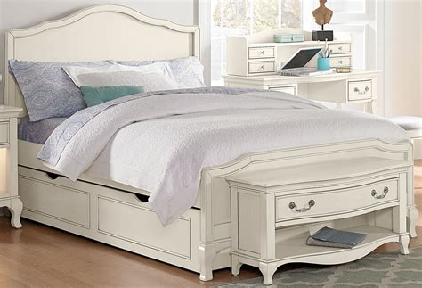 White Bed With Trundle by Kensington Antique White Panel Bed With