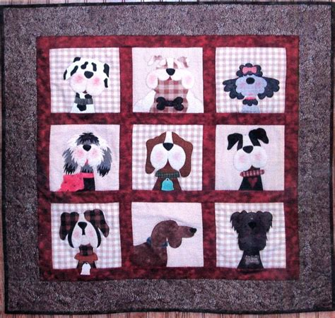 quilt pattern new gone to the dogs applique quilt pattern from the whole