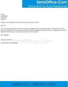 Certification Letter For Receiving Money Acknowledgement Letter Of Receiving Gifts With Thanks