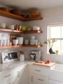 open corner shelves tips for stylishly that open kitchen shelving