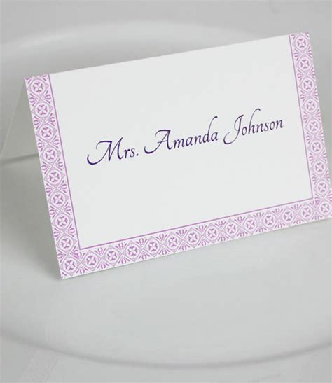 Microsoft Word Place Card Template microsoft word wedding place card templates print
