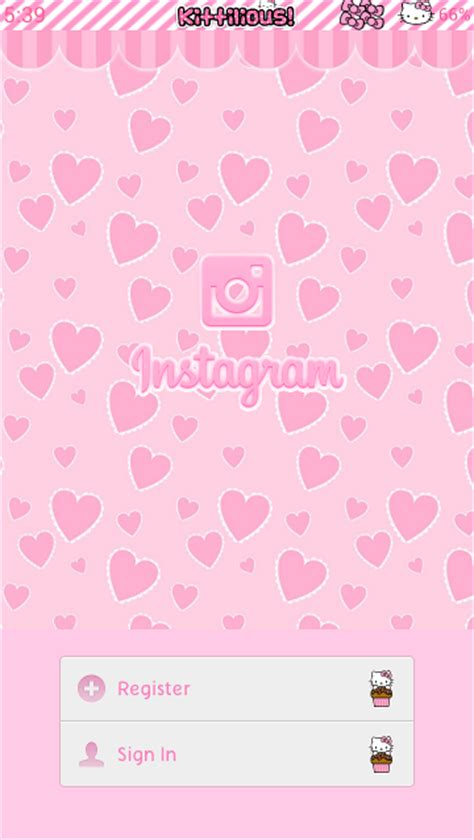 hello kitty tumblr themes free pretty droid themes hello kitty pink instagram theme for