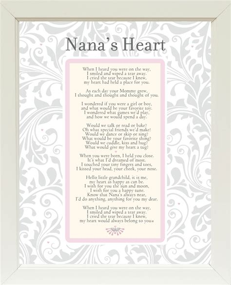 Wholesale Home Decore by Nana S Heart Poem Frame 11x14 White