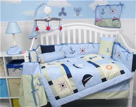 Sailboat Crib Bedding Boutique Baby Sailboat Baby Crib Nursery Bedding Set 13 Pcs Included Bag Ebay
