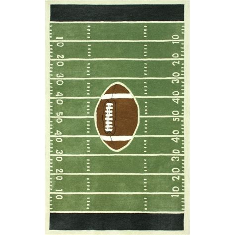 football field rug for nuloom handmade football field green rug 5 x 8 by nuloom football football and kid