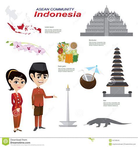 design community indonesia cartoon infographic of indonesia asean community stock