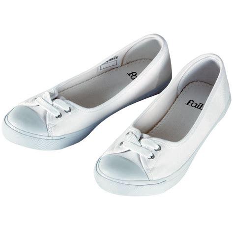 flat pumps shoes uk faith white canvas flat plimsoles ballet pumps