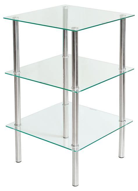 3 tier glass shelving unit fw950 be fabulous