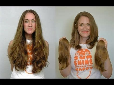 trim haircut before and after long haircut for locks of love youtube