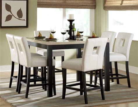 7pc Dining Table Set Bar Pub Tables Sets Archstone 7 Pc Counter Height