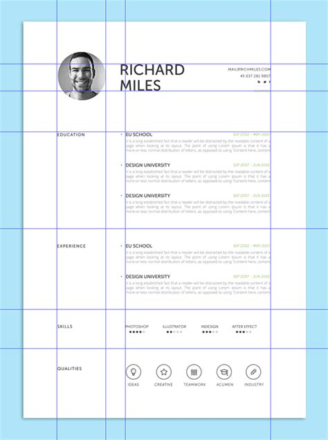 grid layout marketing 9 creative resume design tips with template exles