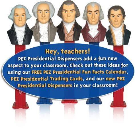Presidential Trading Card Template by Free Pez Presidential Facts Calendar Presidents