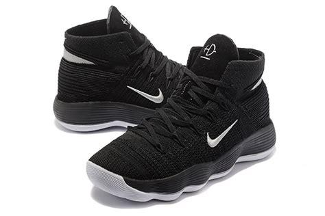 nike hyperdunk 2017 flyknit high basketball shoes in black silver hyperdunk high shoes 85 00