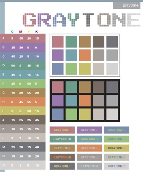 9 best images of grey color chart 50 shades of grey best 25 cmyk color chart ideas on pinterest pantone