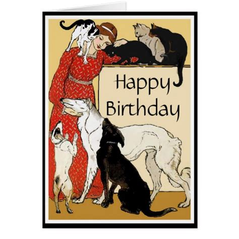 printable birthday cards dog lovers pet lover birthday card zazzle