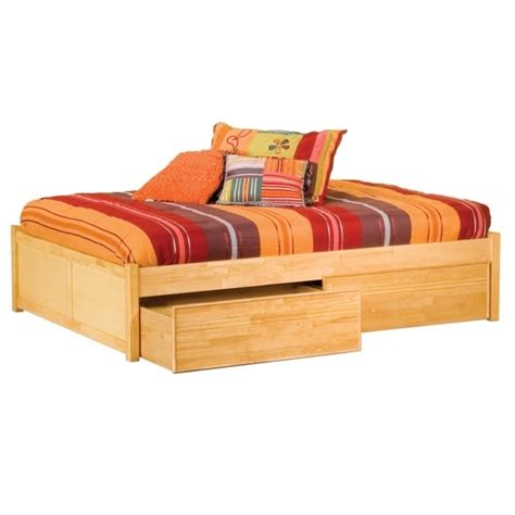 bed with drawers full wooden storage bed solid hardwood construction 2 drawer