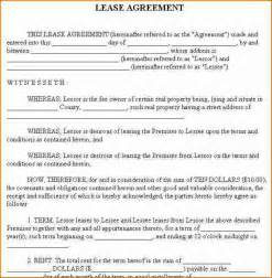 Basic Residential Lease Agreement Template 7 basic rental agreement or residential lease printable