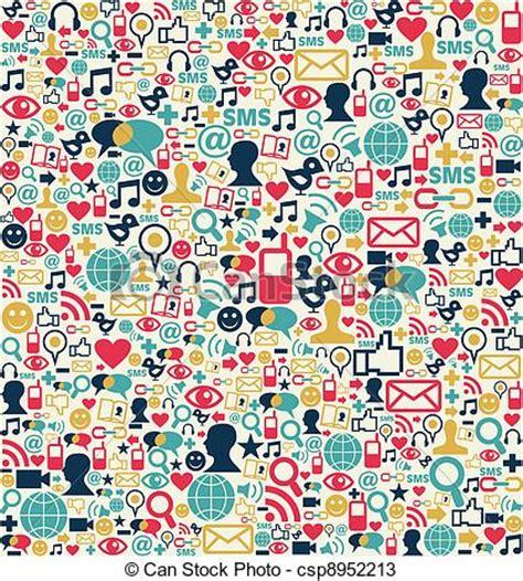 network pattern en français vectors of social media network icons pattern social