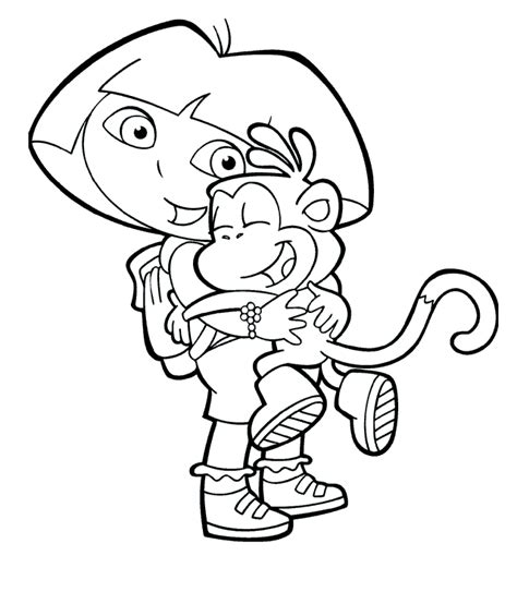 Coloring Pages The Explorer the explorer coloring pages free printable pictures