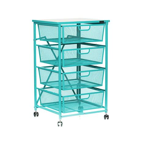 4 drawer kitchen cart origami 4 drawer kitchen cart with wood shelf shop your