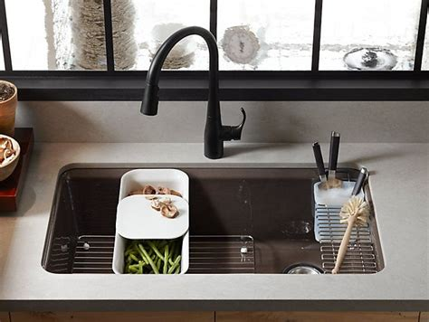 Cutting Granite For Undermount Sink by K 5871 5ua3 Riverby Mount Kitchen Sink With