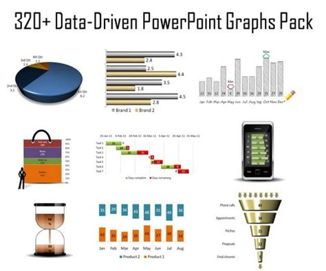 320 visual powerpoint graphs pack