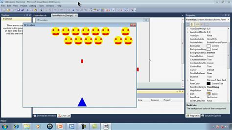 simple visual basic games visual basic express 2010 tutorial 32 ezinvaders part 1