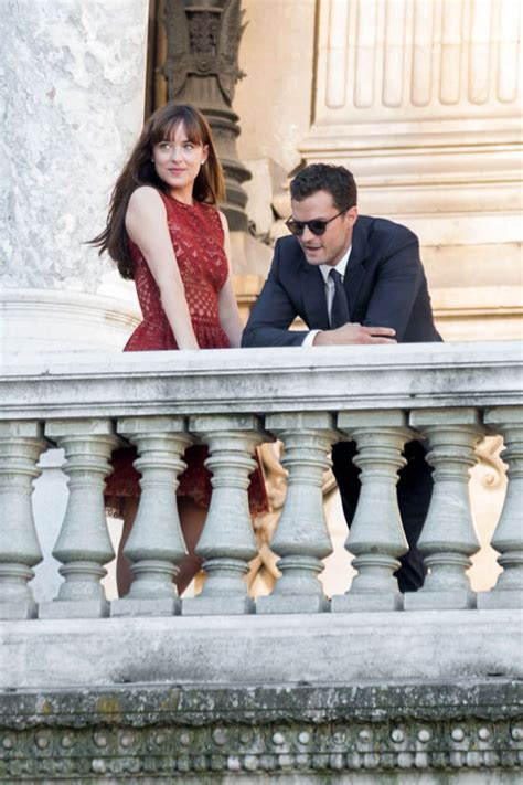 fifty shades darker clothes fashion and filming locations dakota johnson and jamie dornan on the set of quot fifty