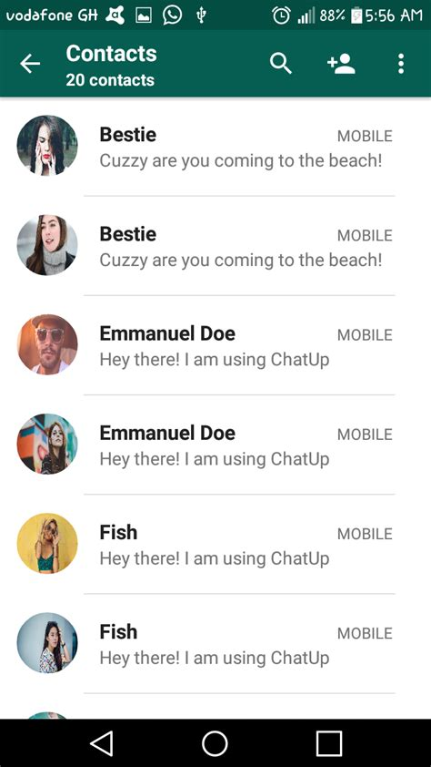 themes for whatsapp material chitchat material whatsapp ui template by sleekstudio